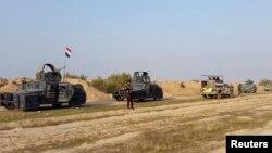Дияла провинциясында жүрген Ирак әскері. Желтоқсан, 2014 жыл. (Көрнекі сурет)
