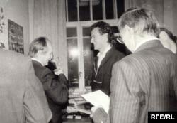 Борис Вжесневський із В'ячеславом Чорноволом, 1990 рік