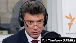 Russia -- Boris Nemtsov in Moscow studio after meeting with Obama, 07Jul2009