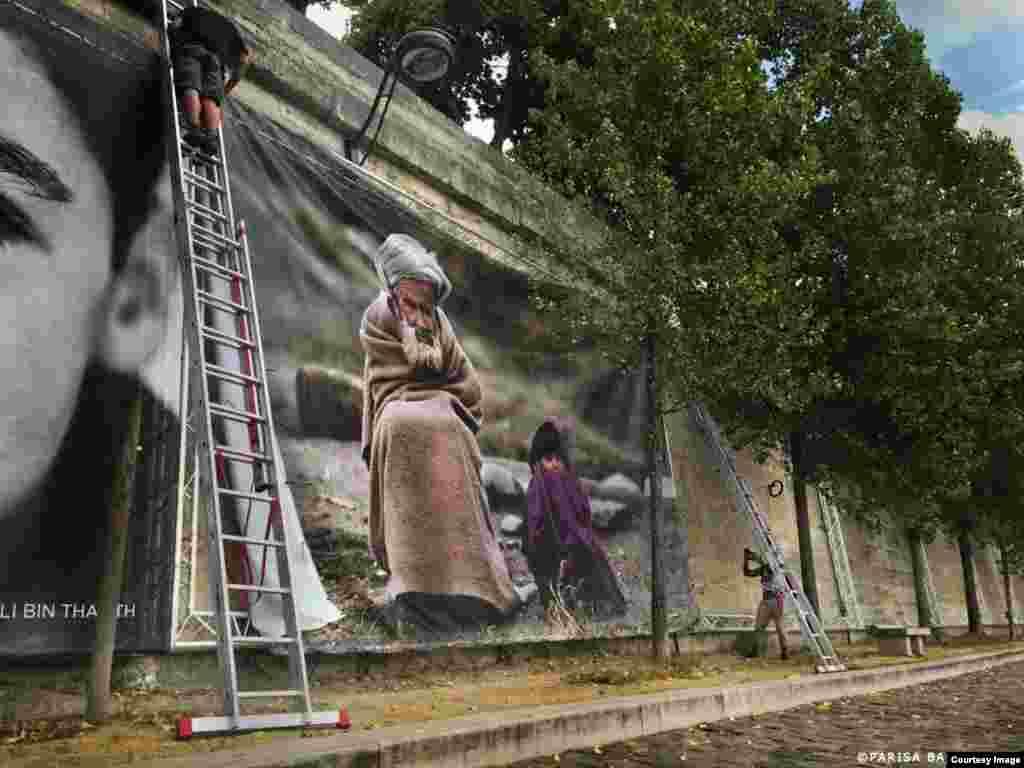 عکس از پریسا بهرام لو؛نمایشگاه «رویای انسانیت» رضا دقتی در پاریس