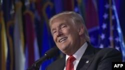 Избранный президент США Дональд Трамп. Нью-Йорк, 9 ноября 2016 года.