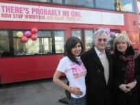 پيام بیخدايی بر اتوبوسهای لندن