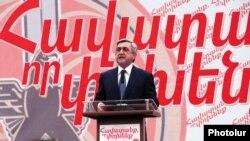Հայաստանի եւ ՀՀԿ-ի նախագահ Սերժ Սարգսյան