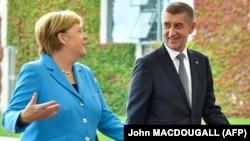 Германия канцлері Ангела Меркель мен Чехия премьер-министрі Андрей Бабиш. Берлин, 5 қыркүйек 2018 жыл.