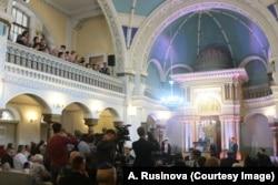 Выступление Б. Нетаньяху в Вильнюсской синагоге