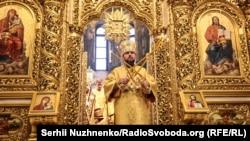 Митрополит Епифаний проводит первую литургию в Михайловском Златоверхом соборе. Киев, 16 декабря 2018 года