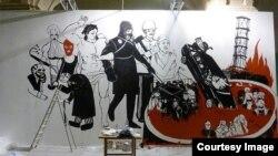 Останнє фото знищеної в Мистецькому арсеналі картини, Київ, 24 липня 2013 року, фото з Facebook Володимира Кузнєцова