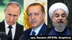 روحانی، اردوغان و پوتین
