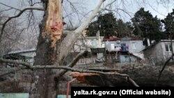 Последствия непогоды в Ялте