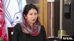د افغانستان د بشري حقونو خپلواک کمېسیون مشره شهرزاد اکبر