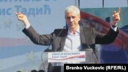 Boris Tadić tokom predizborne kampanje u Kragujevcu, 18. mart 2012.