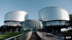 France -- The European Court of Human Rights (ECHR) is seen during a hearing concerning the terrorist attack on a school in Beslan, North Ossetia (Russia), in September 2004, in Strasbourg, October 14, 2014