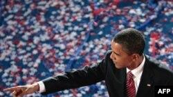Barack Obama pas fjalimit të tij në Konventën e Demokratëve, 28 gusht 2008.
