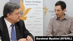 Петро Порошенко (л) і Віталій Портников (п), архівне фото