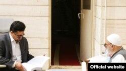 سعید منتظری در کنار پدرش آیت الله منتظری
