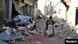 În partea de est a orașului Alep...
