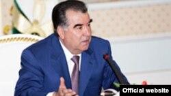 Tajikistan -- Emomali Rahmon, the president of Tajikistan, 10Apr2012