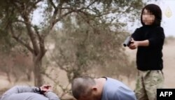 The Islamic State group's willingness to use children even as executioners is well-known.