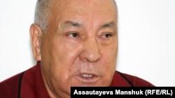 Бұрынғы Жоғарғы кеңестің депутаты Ғазиз Алдамжаров.