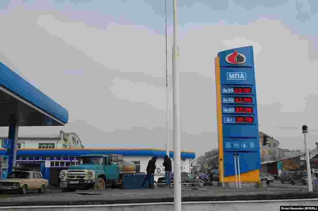 Kyrgyzstan - Osh, Petrol, oil, 29Nov2011