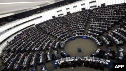 Зал заседаний Европейского парламента в Страсбурге. Иллюстративное фото.
