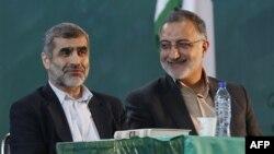 علیرضا زاکانی (راست) نماینده پیشین مجلس