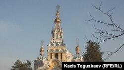 Свято-Вознесенский собор. Алматы, 7 января 2013 года. Иллюстративное фото.