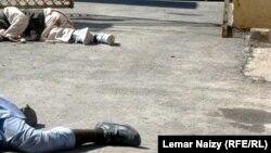 Жарылыстан зардап шеккендер. Пактия, Ауғанстан, 16 қазан 2012 жыл.