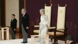 Japanski car Akihito i carica Mičiko prisustvuju ceremoniji abdikcije u Imperijalnoj palati u Tokiju, 30. april 2019.