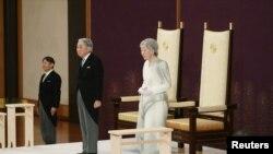 Ceremonia de abdicare a împăratului la Palatul Imperal din Tokio