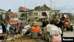 Arhivska fotografija: Izbjeglice tokom rata