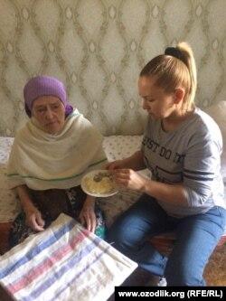 Ветеран трудового фронта Октябрина Нуралиева.
