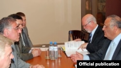 Armenia - Senior Armenian and Israeli diplomats hold talks in Yerevan, 23Aug2011.