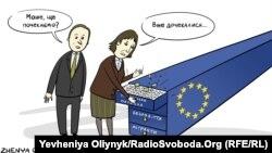 Карикатура Жені Олійник