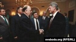 З прэзыдэнтам ЗША Білам Клінтанам. 1994 г.