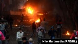 مواجهات بين محتجين وقوات أمنية في القاهرة 16/1/2014