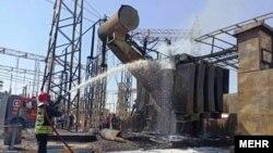 آتشسوزی در نیروگاه زرگان
