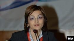 Министерот за внатрешни работи Гордана Јанкуловска
