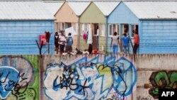 Një kamp i azilkërkuesve në Debrecen të Hungarisë.