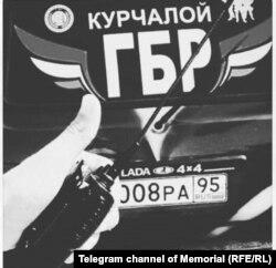 """Группа быстрого реагирования в Курчалоевском ОМВД (фото предоставлено """"Мемориалом"""")"""