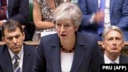 Ұлыбритания премьер-министрі Тереза Мэй парламентте сөйлеп тұр. Лондон, қыркүйек, 2018 жыл.