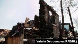 Последствия пожара в Ширинском районе Хакасии
