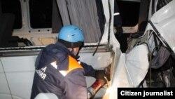 Uzbekista \ Russia - Сar accident in the Bryansk region