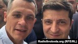 Голова Харківської ОДА Олексій Кучер (л) та президент України Володимир Зеленський (п)