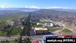 Пересечение проспектов Айтматова и Масалиева.