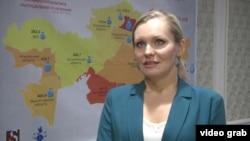"""Диана Окремова, """"Құқықтық медиа-орталық"""" қорының директоры, Астана, 16 қараша 2015 жыл."""
