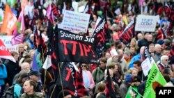 Protesti protiv sporazuma o Transatlantskom trgovinskom i investicionom partnerstvu, Njemačka, april 2016.