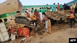Аварія сталася на залізничній станції Вальхар поблизу міста Рахім'яр-Хан вранці 11 липня
