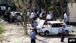 После теракта во дворе отдела по борьбе с организованной преступностью МВД Таджикистана в городе Худжанде, 3 сентября 2010 года