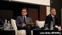 Sorin Ioniță și Igor Boțan la dezbaterea de la Chișinău